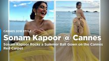 Watch Sonam Kapoor Rock a Summer Ball Gown at Cannes Red Carpet