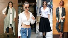 18 chic ways to style a white shirt