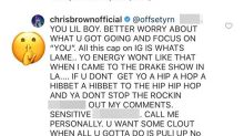 Chris Brown Tells Offset to 'Fight Me' After Rapper Slams Him for Posting 21 Savage Meme
