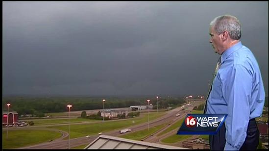 Possible funnel cloud spotted on camera