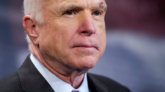 John McCain dashes Republican hopes of repealing Obamacare by saying he can not support new bill