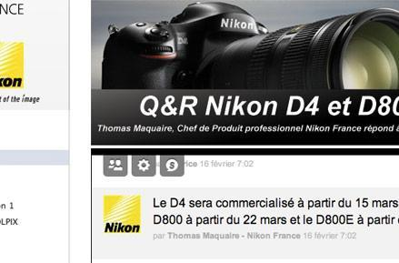 Nikon D4 and D800 to ship in March, but only in the land of the baguette? (update: US too)