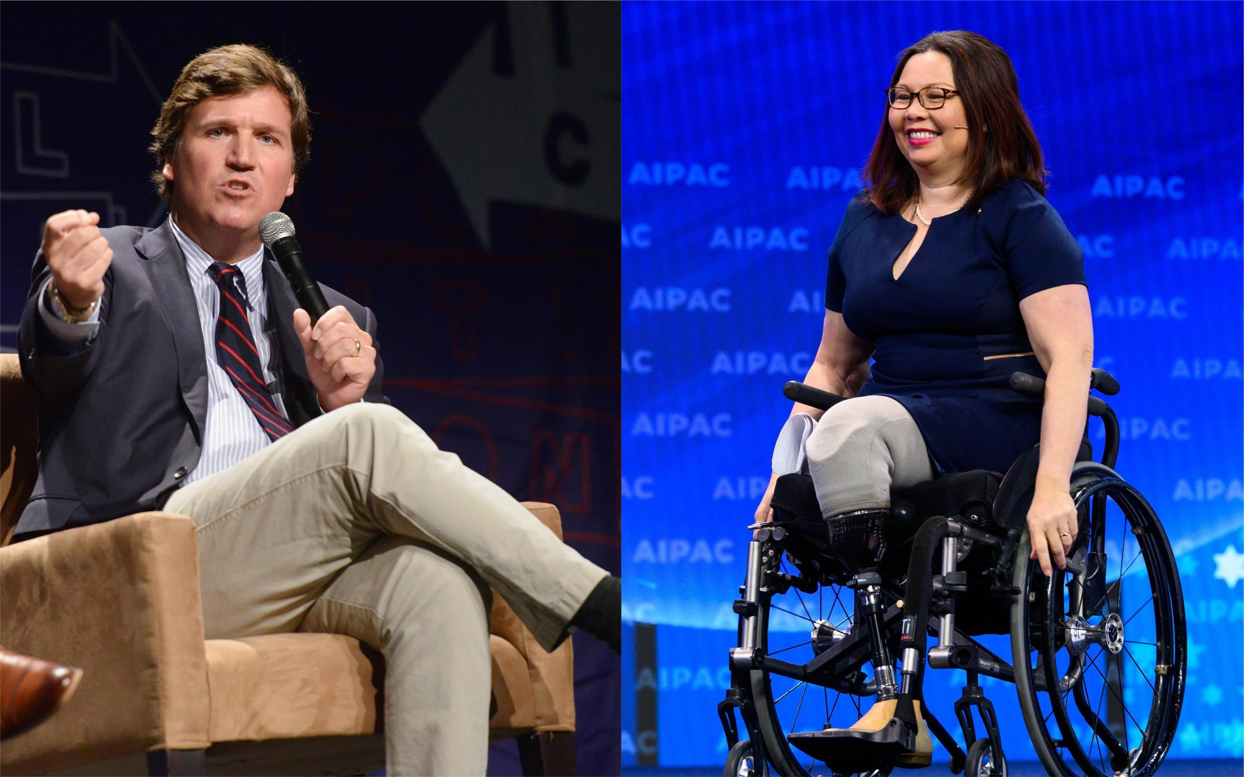 Sen. Tammy Duckworth responds after Tucker Carlson suggests she hates America