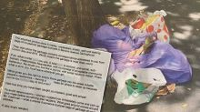 'Sub-human': Man receives 'absolutely deranged' letter over dumped rubbish