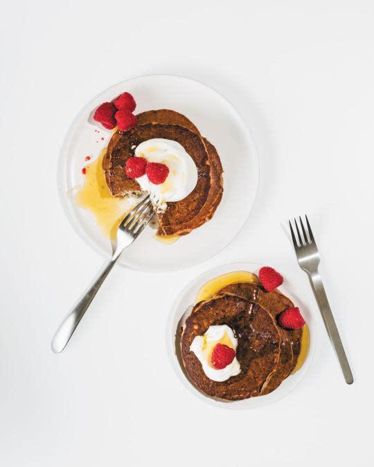 Fresh Raspberry-Quinoa Pancakes from 'The Quinoa [Keen-Wah] Cookbook'