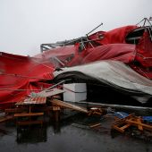 Typhoon Megi kills one in China as several structures collapse from deadly wind speeds