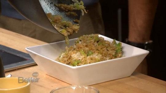 Chef Tryg Siverson Is Going Gluten Free In The Kitchen Making Ginger and Leek Fried Rice