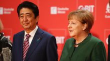Abe, Merkel call for open markets