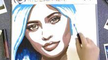 Diese Künstlerin zeichnet Kylie Jenner-Porträts mit Lippenstiften