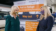 Duchess of Cornwall praises scheme which helps four people per day flee domestic abuse