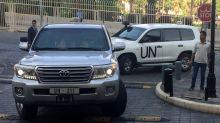 C-Waffen-Inspekteure nehmen Proben in Duma
