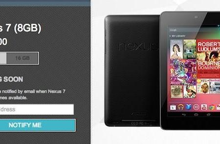 8GB Nexus 7 no longer available at Google Play store