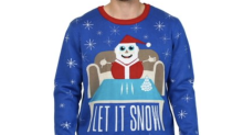 Walmart Canada pulls 'Let It Snow' Christmas sweater featuring a cocaine-using Santa