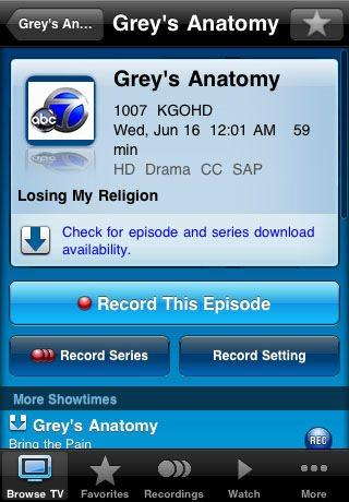 U-verse Mobile 2.0 for iPhone available, combines downloadable TV shows with remote DVR access