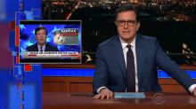 Stephen Colbert calls out Tucker Carlson for stealing his bit