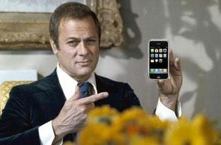 Tony Curtis buried with iPhone