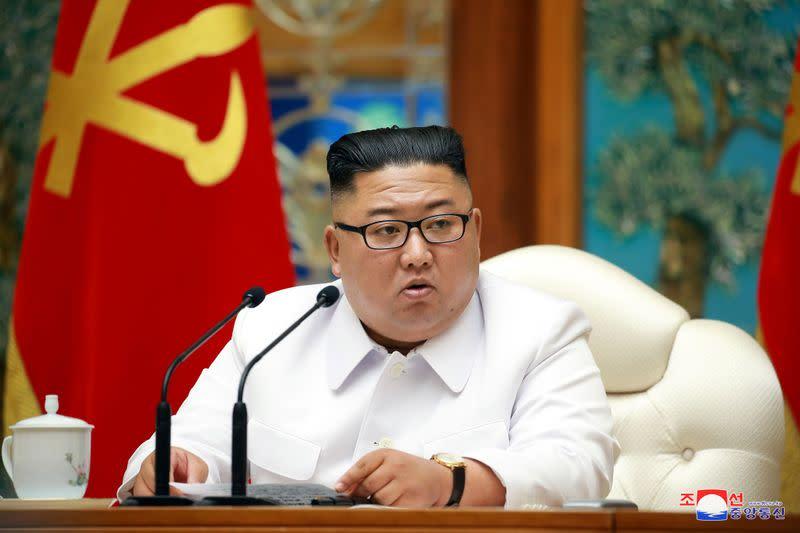 North Korean leader Kim calls for prevention efforts against coronavirus, looming typhoon - KCNA