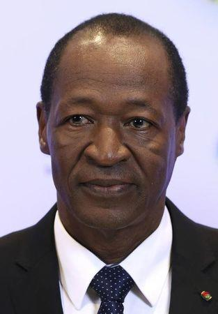 Burkina Faso's President Compaore poses during an EU-Africa summit in Brussels