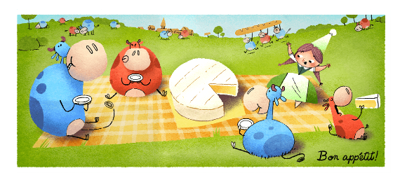 Google Doodle Celebrates Marie Harel, the Inventor of Camembert Cheese