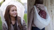 The umbrella you can wear like a backpack