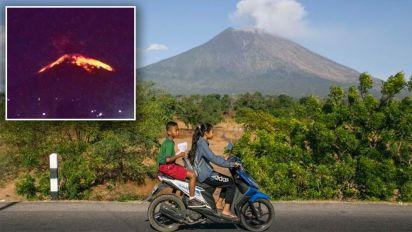 Flights cancelled as Bali's Mt Agung volcano erupts