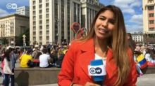 World Cup reporter sexually harassed on live TV by fan