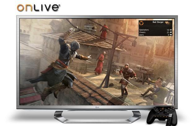LG Google TVs now have integrated OnLive cloud game streaming