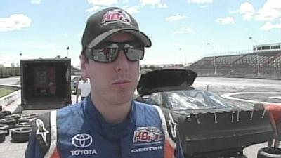 Kyle Busch Tests His Ride At Oxford Plains Speedway
