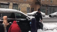 New York Police Lose Snowball Fight to Brooklyn Kids Before Buying Them Gloves