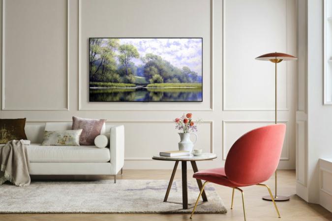 LG OLED evo TV wall mount