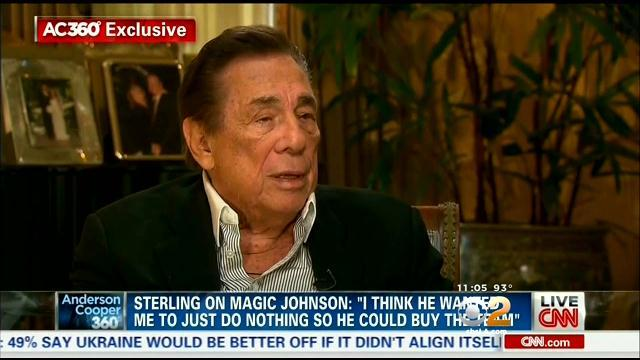 Sterling Attacks Magic Johnson In New Interview With CNN