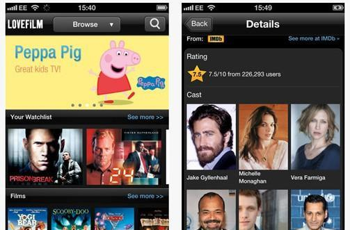 Amazon's Lovefilm finally launches iPhone app in the UK