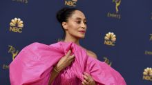 Tracee Ellis Ross leads parade of pink on Emmys carpet