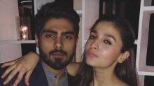 Alia Bhatt strikes a pose with ex-boyfriend Ali Dadarkar as they attend a wedding