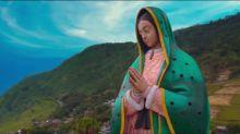 La Virgen de Guadalupe monumental en Puebla, desde donde puedes contemplar las nubes