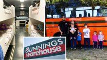 Mum's epic Bunnings bus transformation