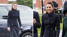 Duchess of Cambridge wears Alexander McQueen on tenth anniversary of designer's death