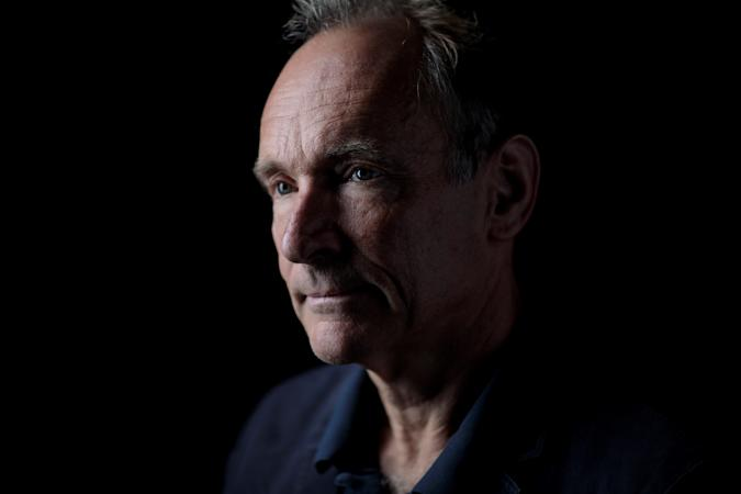 World Wide Web founder Tim Berners-Lee poses for a photograph following a speech at the Mozilla Festival 2018 in London, Britain October 27, 2018. Picture taken October 27, 2018. REUTERS/Simon Dawson