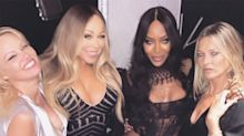 Mariah Carey Celebrates Tour's End with Pamela Anderson, Naomi Campbell and Kate Moss