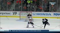 Perreault hits one off the post and past Rask