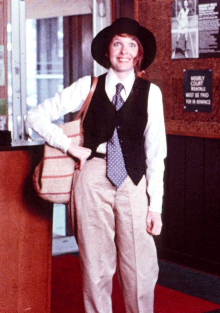 Diane Keaton still wears ensembles like the ones she wore in <em>Annie Hall</em>. (Photo: Mary Evans/Ronald Grant/Everett Collection)