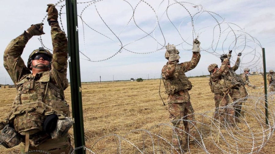 Why soldiers are removing barbed wire at border