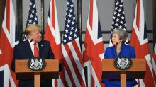 Trump says Brexit 'can and should happen' as he dismisses Corbyn and protesters