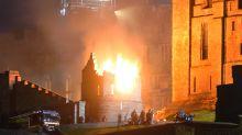 New Indiana Jones film lights up night sky at historic castle