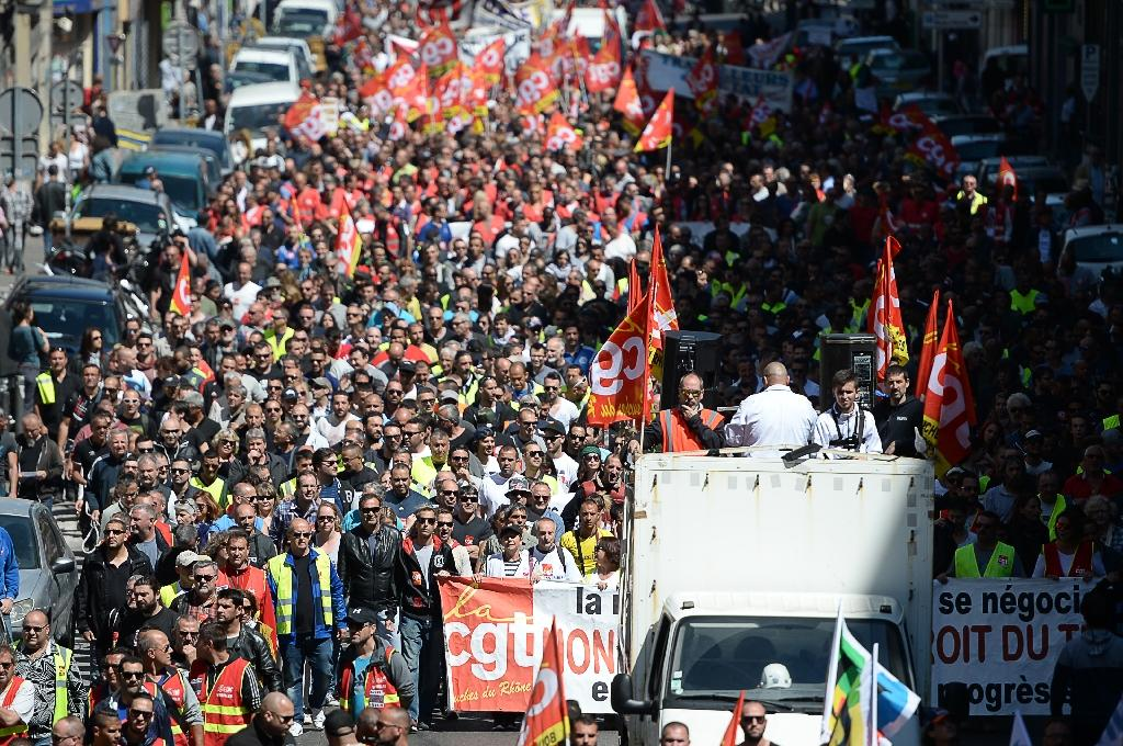 The protests follow similar demonstrations, such as when people took to the streets in Marseille (AFP Photo/BORIS HORVAT)