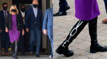 Dr. Jill Biden Sends a Powerful Message In Her Over-the-Knee Stuart Weitzman Boots