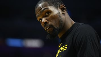 Frustrated Warrior? Durant curses at heckler