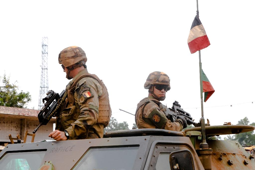 French soldiers as part of Operation Sangaris, launched in 2013 and due to end this year, pictured in Bangui in September 2015