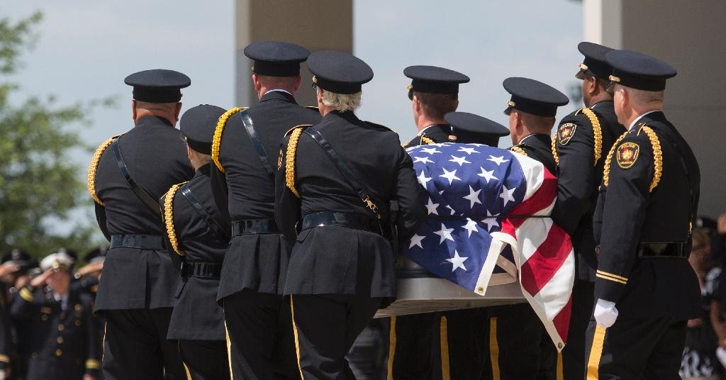 Funerals begin for slain Dallas police officers