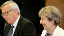 EU calls report on May-Juncker talks a smear